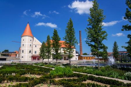Renaissance Pisecne castle rebuilt from gothic fortress, Jindrichuv Hradec district, South Bohemian Region, Czech Republic, sunny summer day