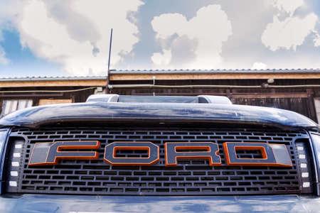 PRAGUE, CZECH REPUBLIC - MAY 6 2019: Ford motor company   on Range Raptor car on May 6, 2019 in Prague.