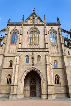 Roman Catholic Saint Barbaras Church in Kutna Hora, sunny summer day, Czech Republic