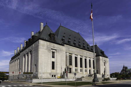 ottawa: Supreme Court of Canada building in Ottawa, Canada Stock Photo