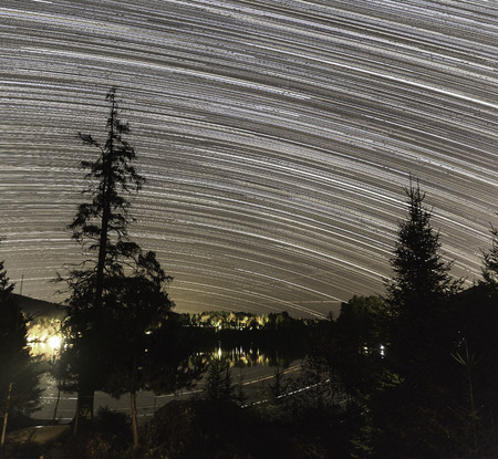 starry night: Starry trails at night