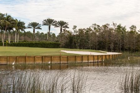 Golfterrein water hole Stockfoto