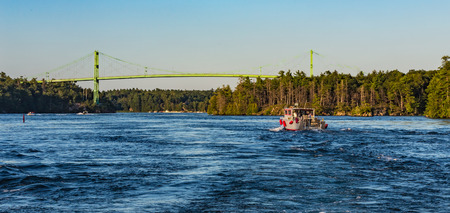 seaway: A boat on the St. Lawrence Seaway Stock Photo