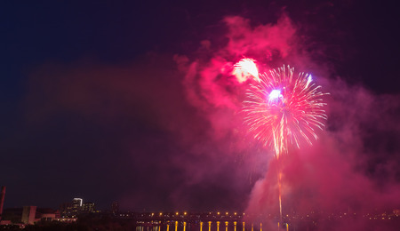 light show: Fireworks light show