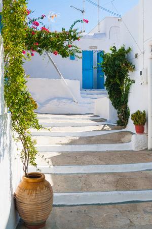 kyklades: Typical Cycladic Architecture, Plaka village, Milos island, Cyclades, Greece Editorial