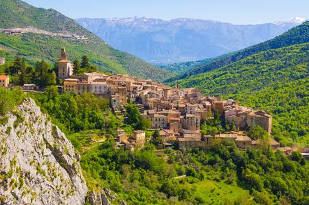 abruzzo: Abruzzo traditional medieval villages, Italy Stock Photo