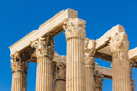 Ancient Temple of Zeus, Olympeion, Athens, Greece Stock Photo