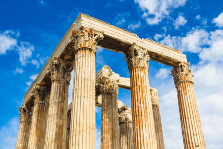 corinthian column: Ancient Temple of Zeus, Olympeion, Athens, Greece Stock Photo