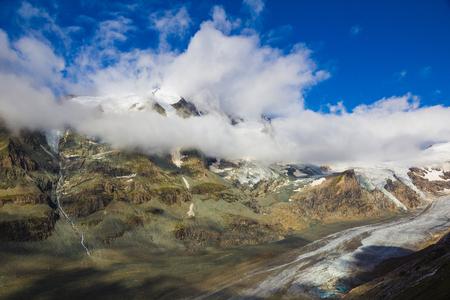 Grossglockner - highest mountain of Austria - with Pasterze glacier, Alps, Austria Stock Photo