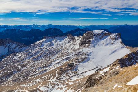 Schneeferner glacier from Zugspitze mountain, Alps, Germany
