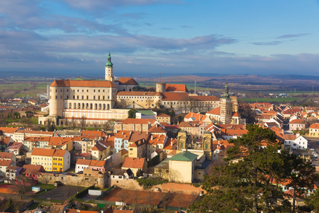 Mikulov castle from St.Hill, Southern Moravia, Czech Republic