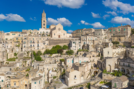 Beautiful town of Matera, Unesco heritage, oldest city in Europe, Basilicata region, Italy