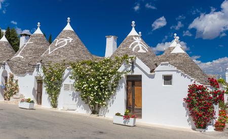 Beautiful town of Alberobello with trulli houses, main turistic district, Apulia region, Southern Italy Stock Photo