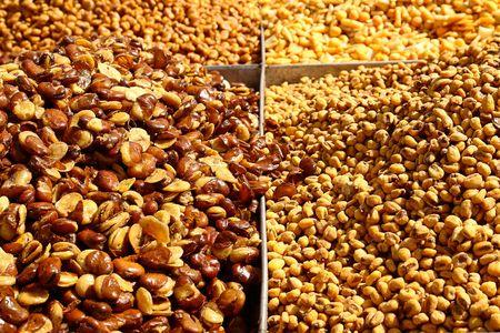ber: Different nuts at the bedouin market in Ber Sheeba, Negev, Israel