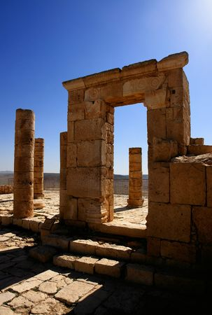 Ruins of the Nabatean city of Avdat, Israel. Stock Photo