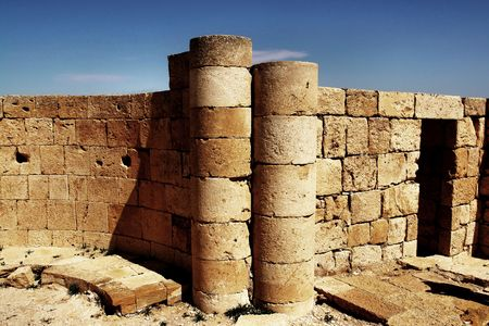 Ruins of the Nabatean city of Avdat, Israel. Stock Photo - 982429