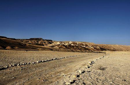 negev: 4x4 road in the Negev desert