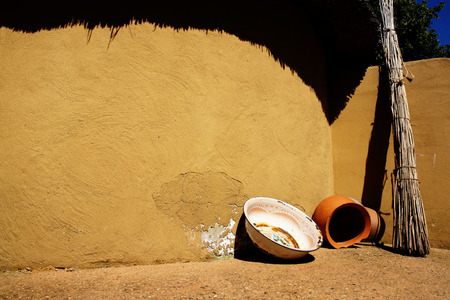 detail of a Dogon village in Mali, Africa