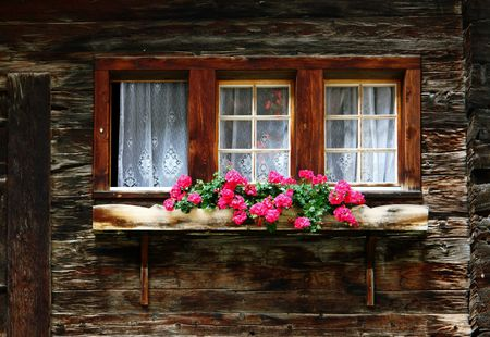 Window of a old wooden house Stock Photo - 1888075