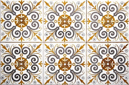Tiles on a  in southern Portugal Stock Photo