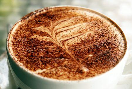 Fern Coffee Stock Photo