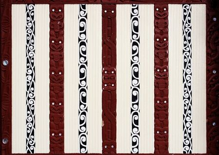 Decorative patterns by Amori ethnic groups in New Zealand Stock Photo