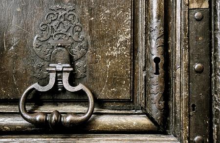 Medieval door (detail) Stock Photo