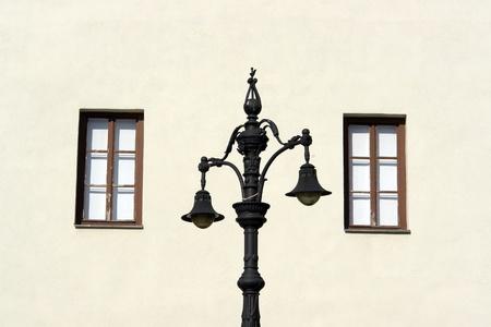 lantern and two windows Stock Photo