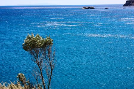 View of the Cretan sea coastline
