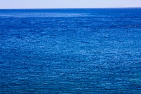 View of the Cretan wild sea coastline