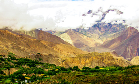 landscape and nature in the Mustang region of Nepal