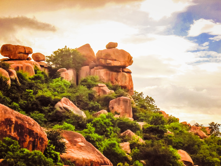 Countryside and nature around Hampi in India
