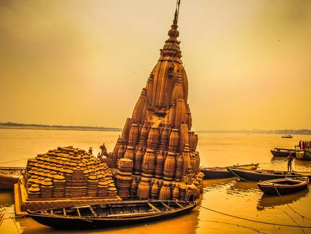 temple in Varanasi Stock Photo