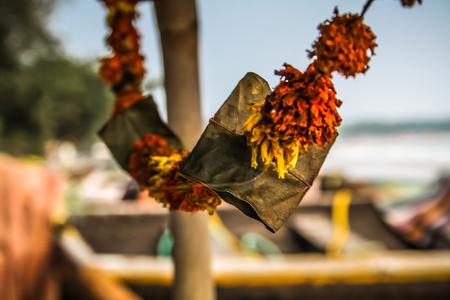 Closeup of fish boat in Goa southern India