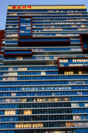 View of the facade of building in Tel Aviv city in Israel January 11-2018 afternoon Editorial