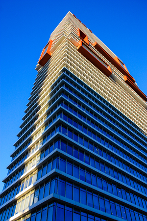View of the facade of building in Tel Aviv