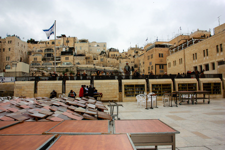 View of the Western wall in Jerusalem Israel December 31-2017