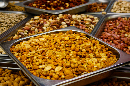 Closeup of dried vegetables in Israel Stock Photo