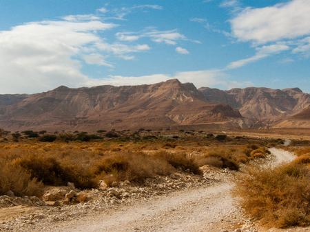 Landscape of the Negev desert in Israel Stock Photo