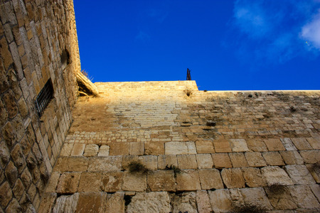 View of the west wall in Jerusalem Israel