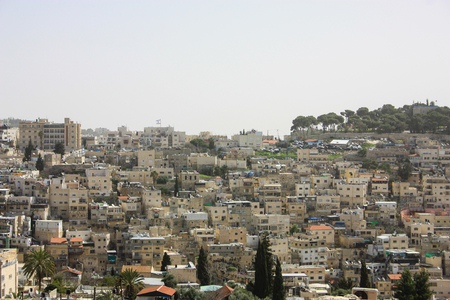 Panoramic view of Jerusalem on the morning Stock Photo