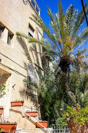 View of the building in Ha Palmah street Katamon area Jerusalem Israel March 14-2018 noon