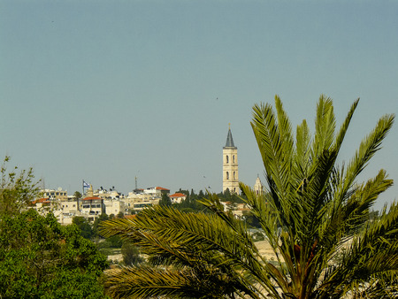 Panoramic view of the city of Jerusalem on afternoon