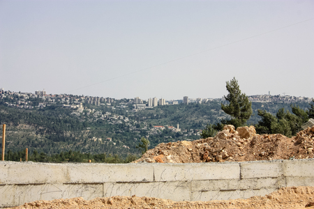 Jerusalem Israel April 13, 2018 Panoramic view of the city of Jerusalem in Israel on afternoon