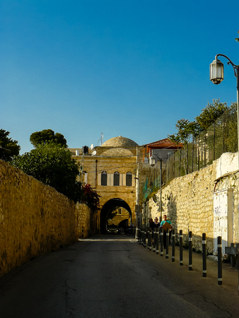 View of the street of the old city of Jerusalem in Israel