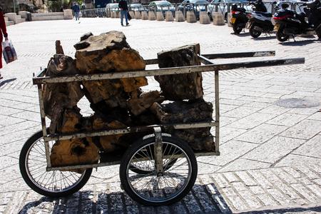 Jerusalem Israel: Transportation in the street of the old city of Jerusalem on afternoon Reklamní fotografie