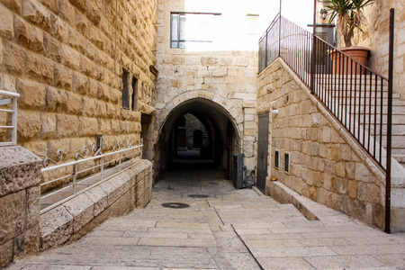 Jerusalem Israel May 17, 2018 View of the street of the Old city of Jerusalem in the jewish quarter