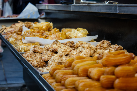 Jerusalem Israel May 24, 2018 Closeup of various pastries sold in the market of Jerusalem in Israel in the evening Editorial