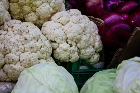 Jerusalem Israel, Closeup of various vegetables sold in the market of Jerusalem in Israel Stock Photo