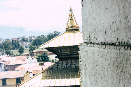 Kathmandu Nepal August 27, 2018 View of the Pashupatinath temple in the morning